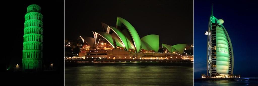 Tower of Pisa / Sydney Opera House/ Burj Al Arab