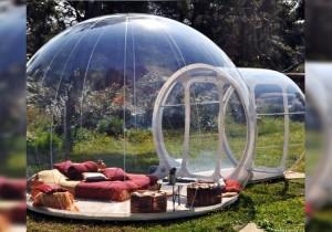 bubble tent - garden 2